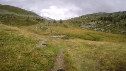 Unwirklich Ruhe, wir haben den Berg für uns allein.